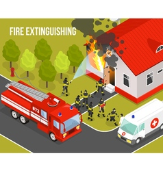 Fire Department Composition vector image
