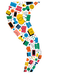social media internet icon shape vector image vector image