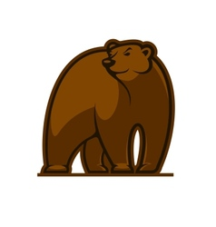 Walking grizzly bear vector