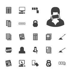 22 press icons vector