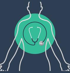 a physical exam logo icon design vector image