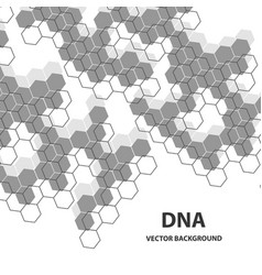 Abstract dna structure medical science background vector