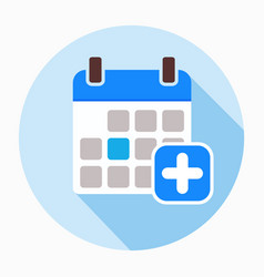 add calendar icon filled flat sign vector image