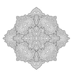 adult coloring book page with beautiful pattern vector image