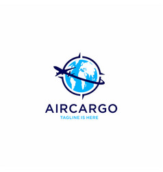 Aircargo aviation logo vector