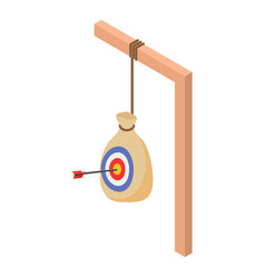 archery target bag icon isometric style vector image
