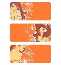 banners women vector image
