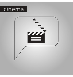 Black and white style icon film slapstick vector