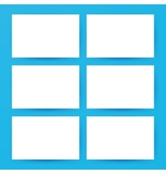 Blank Horizontal Cards Mockup vector image