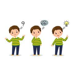 Cartoon child thinking vector