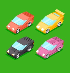 Cartoon Isometric Super Cars vector image
