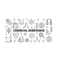 Chemical substance chemistry outline vector