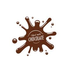Chocolate splash confectionery icon vector