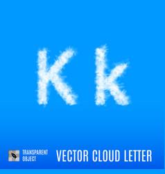 Cloud letter vector