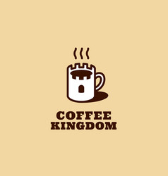 Coffee kingdom logo vector