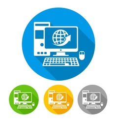 Computer icons round vector image vector image