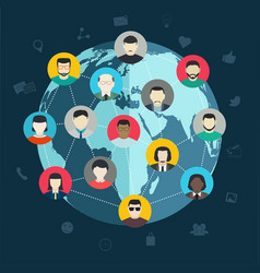concept of social networking wireless connect vector image