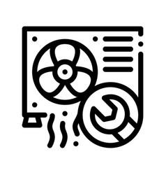 Conditioner system repair thin line icon vector