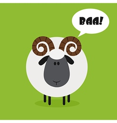 Cute Ram Background with a Text Space vector image