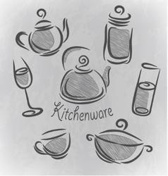 Design restaurant elements vector