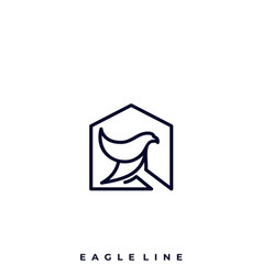 eagle house template vector image