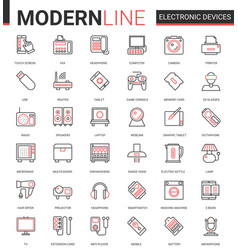electronic devices flat icon vector image