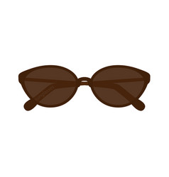 Fashion sunglasses on white background isolated vector