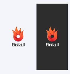 fire flame shape logo design template vector image