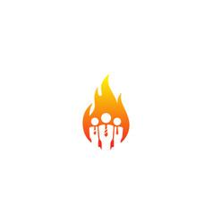 fire job logo icon design vector image