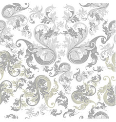 Floral seamless wallpaper pattern vintage swirls vector