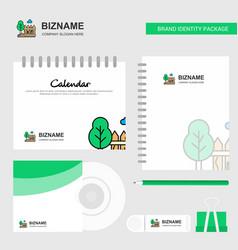 garden logo calendar template cd cover diary and vector image