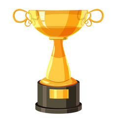 golden cup icon cartoon style vector image