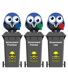 Government Waste Bins vector