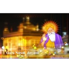 Happy Guru Nanak Jayanti festival of Sikh vector