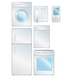 household electronic set vector image