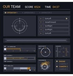 HUD elements for user interface vector