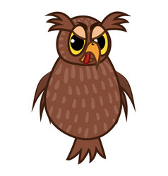 Isolated emoji character cartoon angry owl vector
