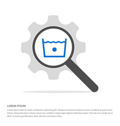 laundry symbols icon search glass with gear vector image