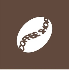 logo with coffee bean vector image