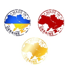 made in Ukraine stamp vector image