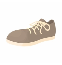 Male gray shoe with white sole icon cartoon style vector image