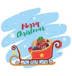 Merry christmas santa sleigh vector