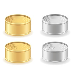 metal tin can 03 vector image