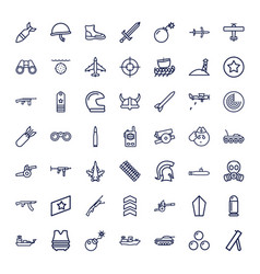 Military icons vector