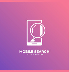 Mobile search logo vector