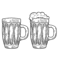 Mug beer isolated on white background design vector