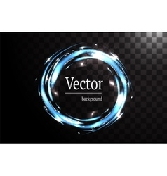 neon banner circle isolated vector image