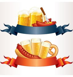 octoberfest cartoon banners vector image