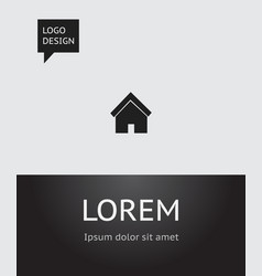 of network symbol on house vector image