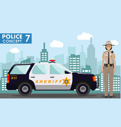 police concept detailed of vector image